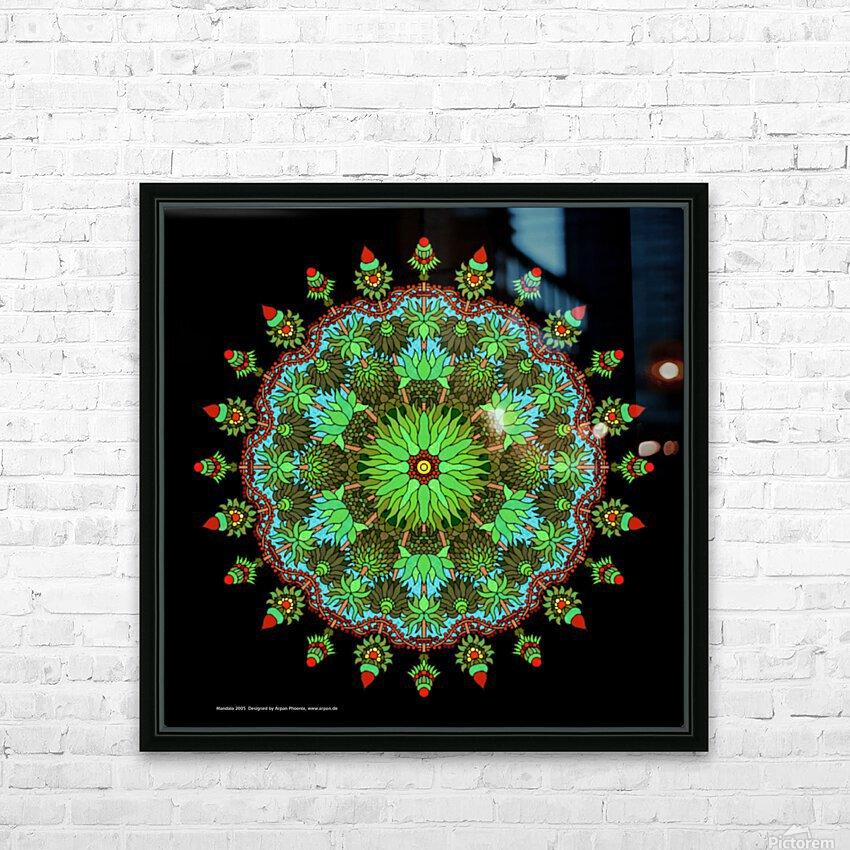 Mandala 2005 HD Sublimation Metal print with Decorating Float Frame (BOX)