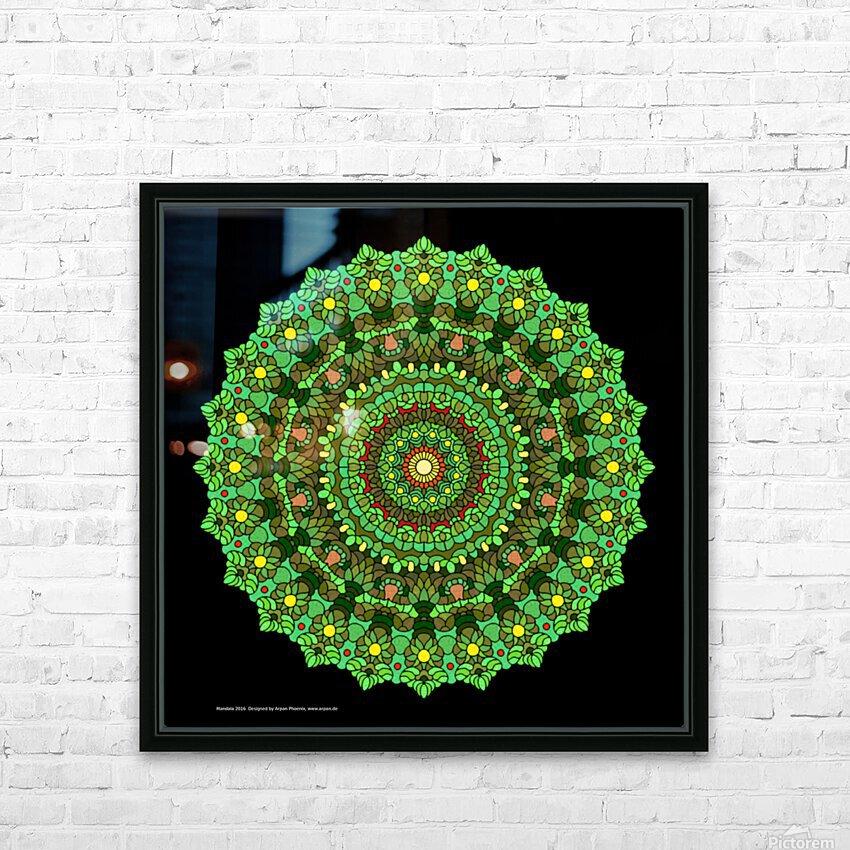 Mandala 2016 HD Sublimation Metal print with Decorating Float Frame (BOX)