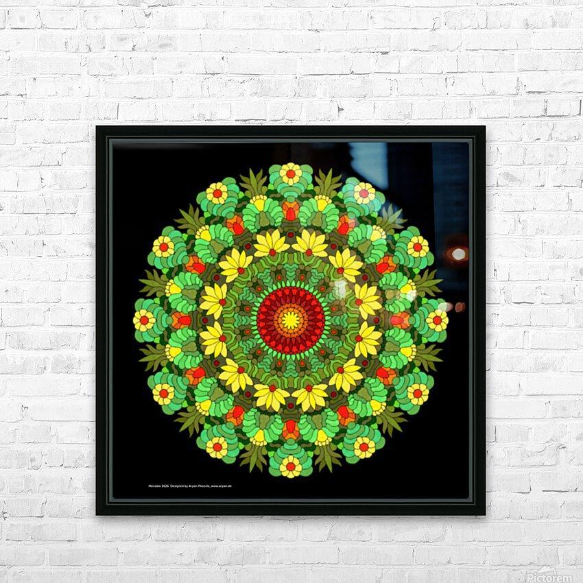 Mandala 2026 HD Sublimation Metal print with Decorating Float Frame (BOX)