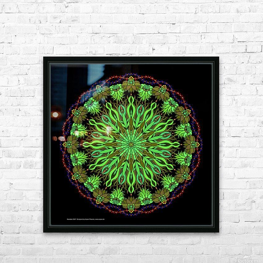 Mandala 2007 HD Sublimation Metal print with Decorating Float Frame (BOX)