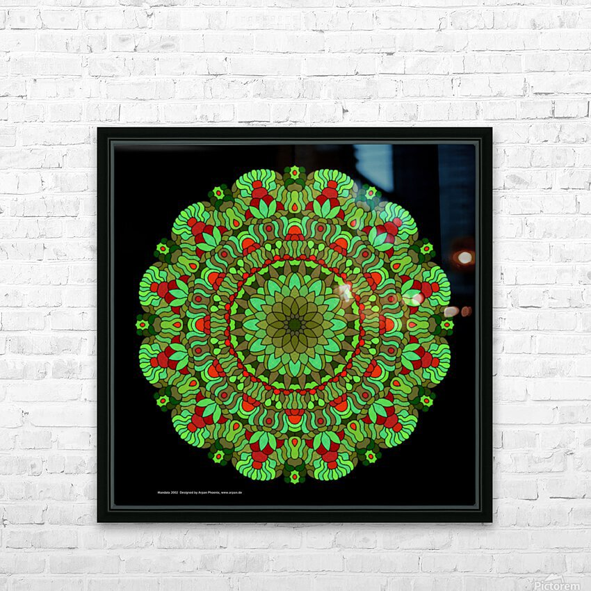 Mandala 2002 HD Sublimation Metal print with Decorating Float Frame (BOX)