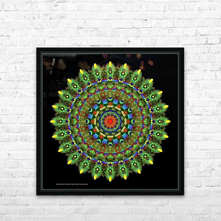 Mandala 2014 HD Sublimation Metal print with Decorating Float Frame (BOX)