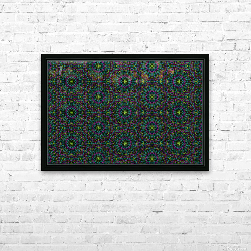 Mosaic 11 HD Sublimation Metal print with Decorating Float Frame (BOX)