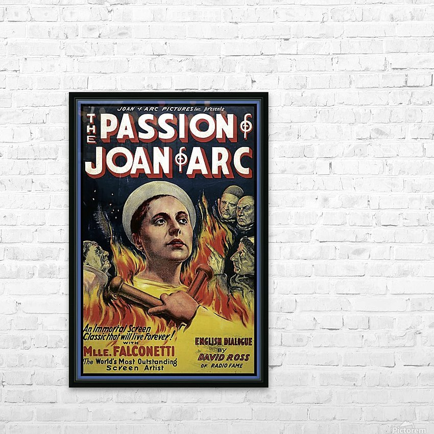 The Passion of Joan of Arc 1928 Ad HD Sublimation Metal print with Decorating Float Frame (BOX)