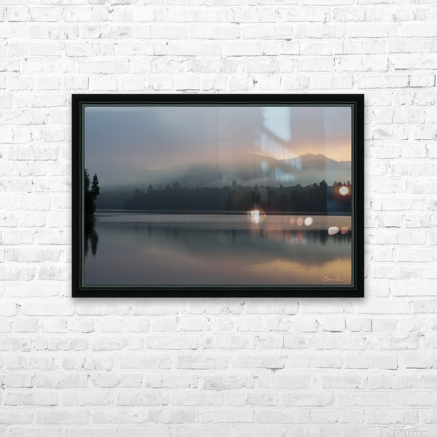Lever de soleil sur le lac Earhart  1 - Sunrise on Earhart Lake  1 HD Sublimation Metal print with Decorating Float Frame (BOX)