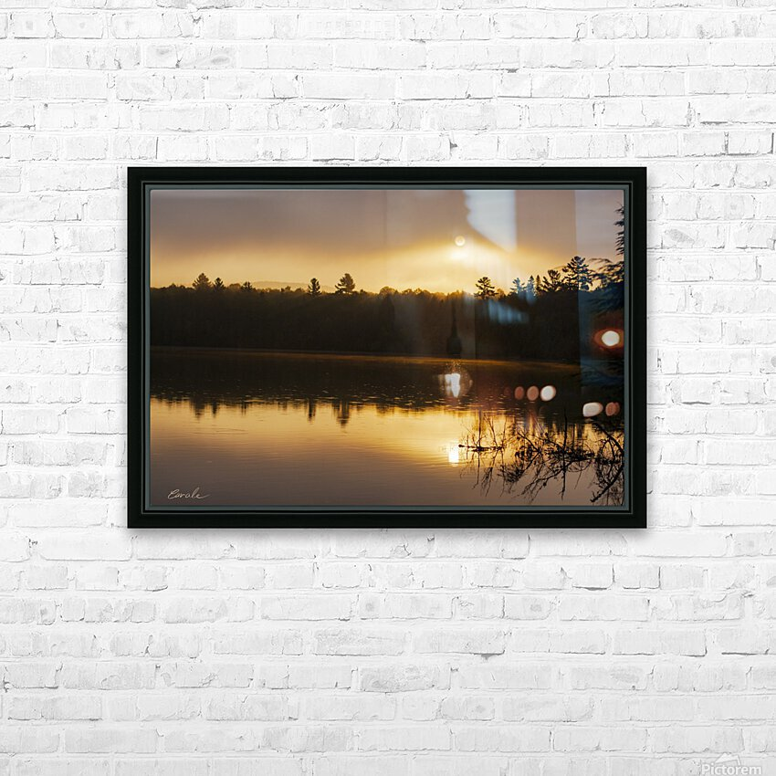 Lever de soleil sur le lac Earhart  2 - Sunrise on Earhart Lake 2 HD Sublimation Metal print with Decorating Float Frame (BOX)