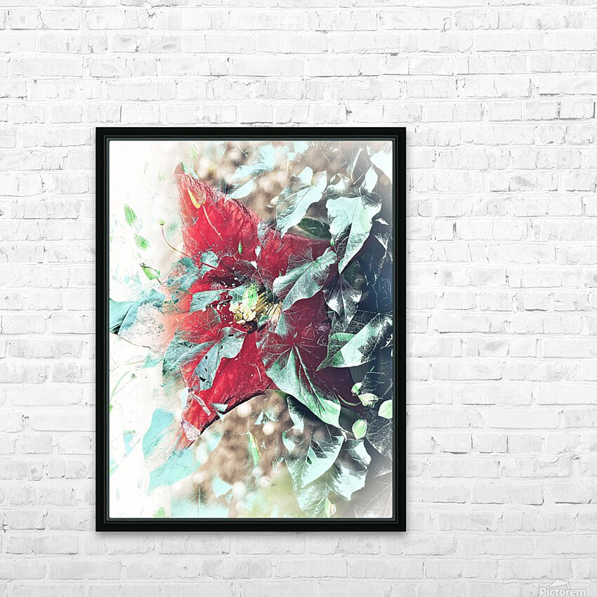 Scarlett Pimpernel with Vine HD Sublimation Metal print with Decorating Float Frame (BOX)