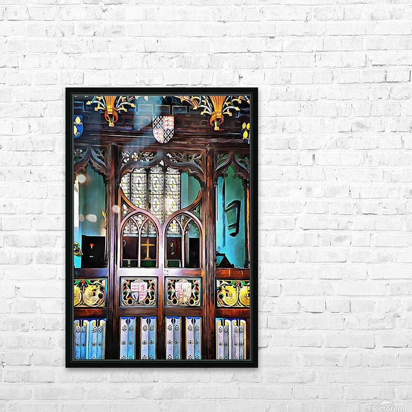 Lound Church Rood Screen 1 HD Sublimation Metal print with Decorating Float Frame (BOX)