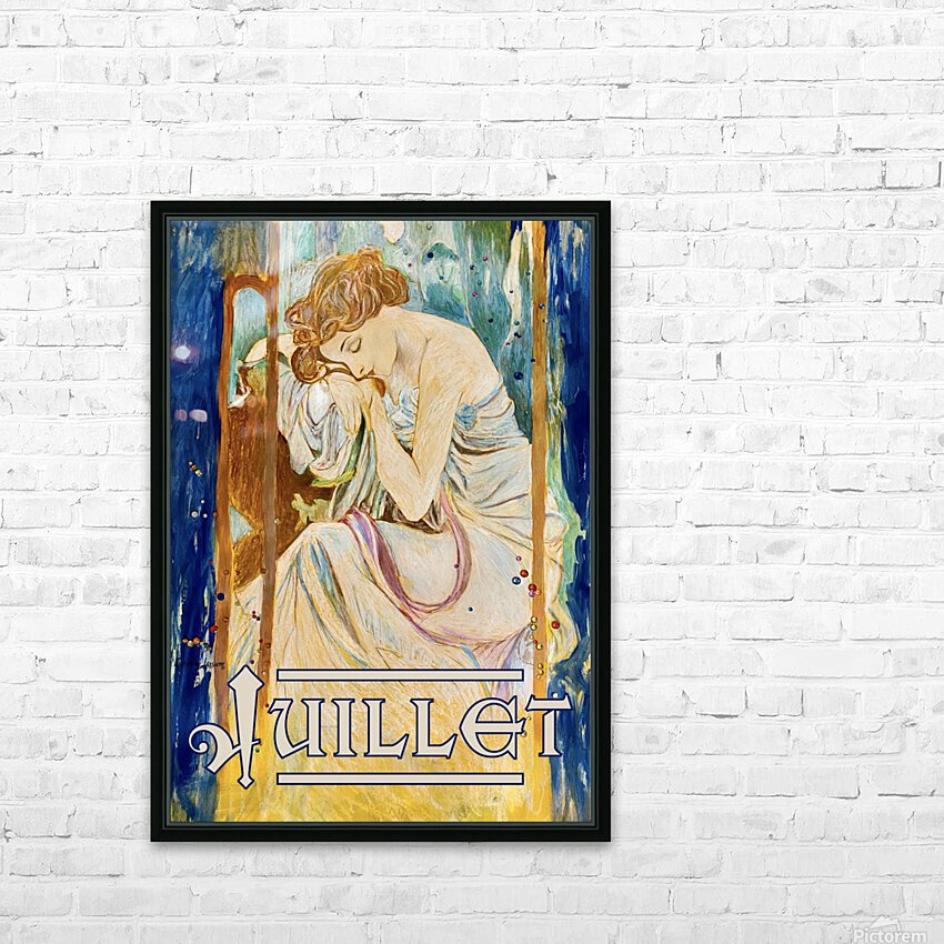 Juillet July HD Sublimation Metal print with Decorating Float Frame (BOX)