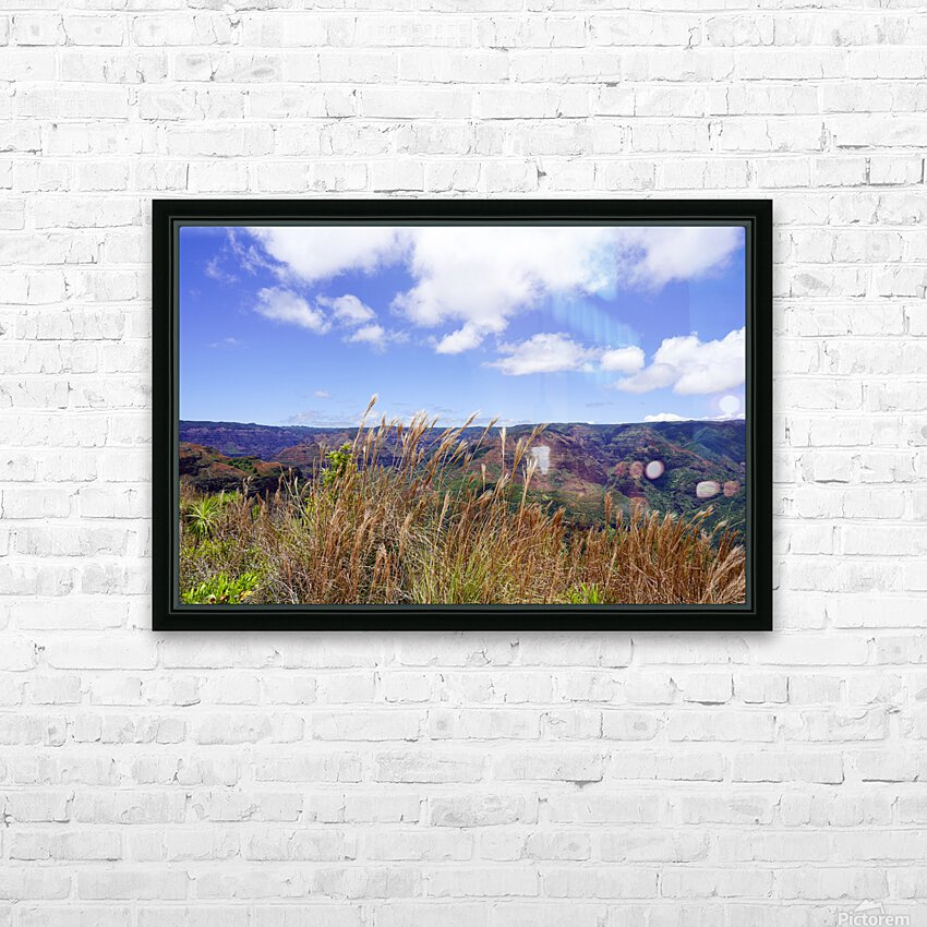 Beautiful View in Waimea Canyon on the Island of Kauai HD Sublimation Metal print with Decorating Float Frame (BOX)