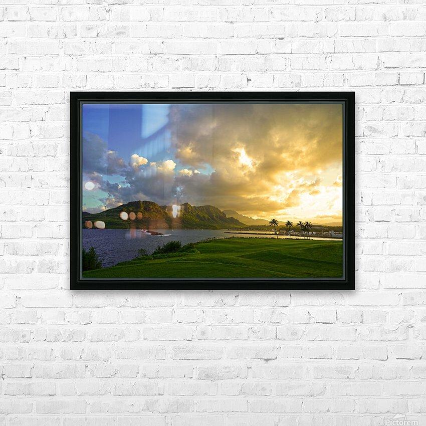 Sunset Nawiliwili Bay Kauai Hawaii HD Sublimation Metal print with Decorating Float Frame (BOX)