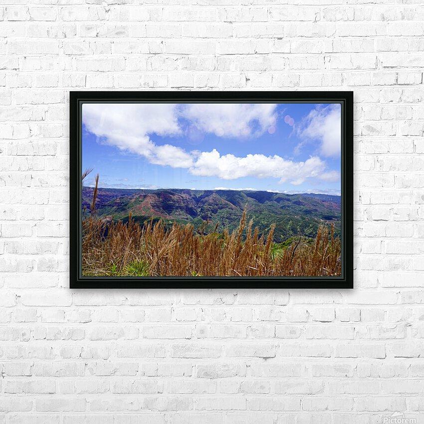 Beautiful View to Distant Waipoo Falls in Waimea Canyon on the Island of Kauai HD Sublimation Metal print with Decorating Float Frame (BOX)