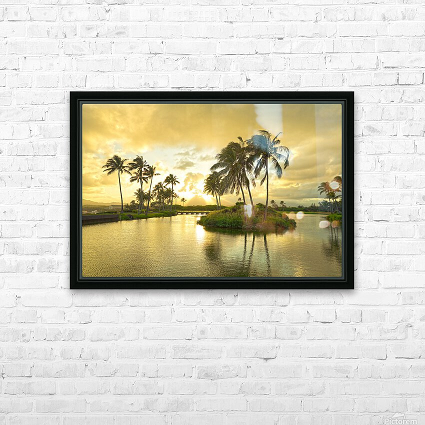 Shadows and Light as the Sun Sets in Kauai 2 of 2 HD Sublimation Metal print with Decorating Float Frame (BOX)