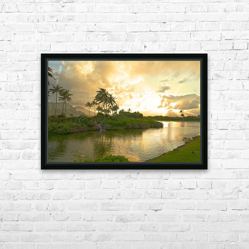 Shadows and Light as the Sun Sets in Kauai 1 of 2 HD Sublimation Metal print with Decorating Float Frame (BOX)