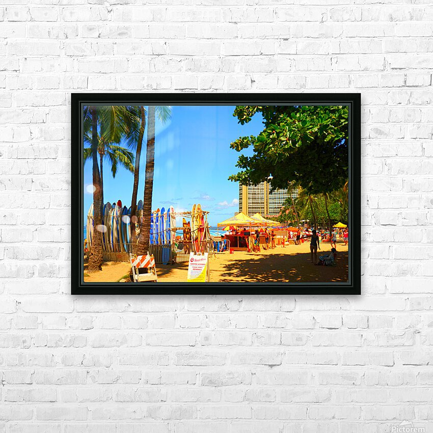 Waikiki Snapshot in Time 2 of 4 HD Sublimation Metal print with Decorating Float Frame (BOX)