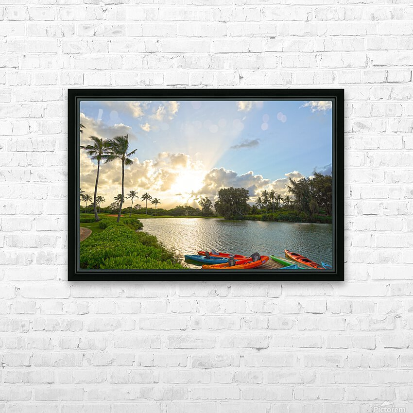 Sunset by the Lakeshore in Kauai HD Sublimation Metal print with Decorating Float Frame (BOX)