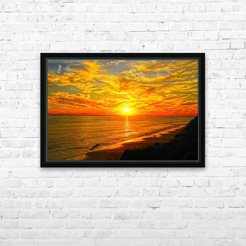 Sunset over Catalina Island in Newport Beach California HD Sublimation Metal print with Decorating Float Frame (BOX)
