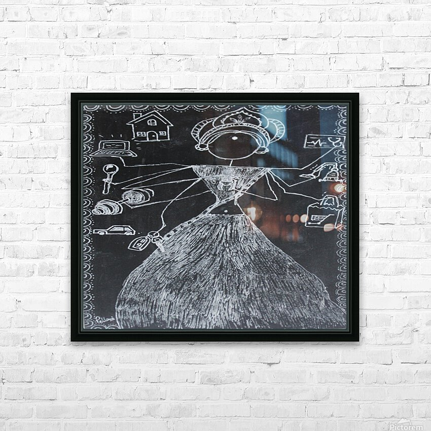 Warli Art Depicting multitask HD Sublimation Metal print with Decorating Float Frame (BOX)