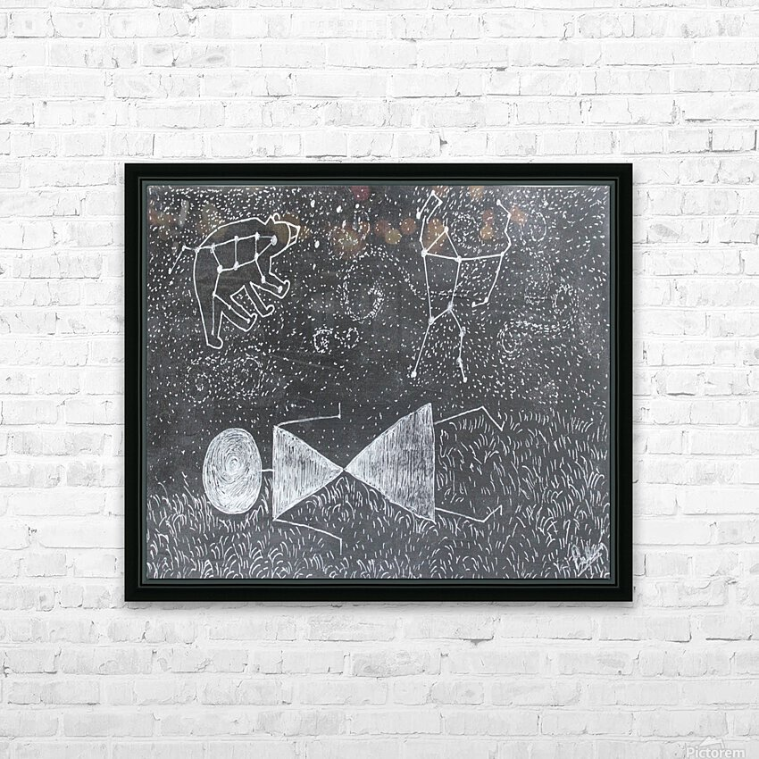 Daydreaming--Warli Tribal art HD Sublimation Metal print with Decorating Float Frame (BOX)