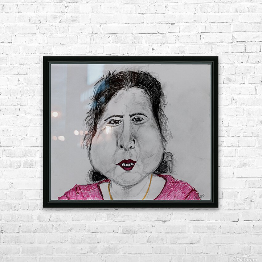 Self Portrait HD Sublimation Metal print with Decorating Float Frame (BOX)