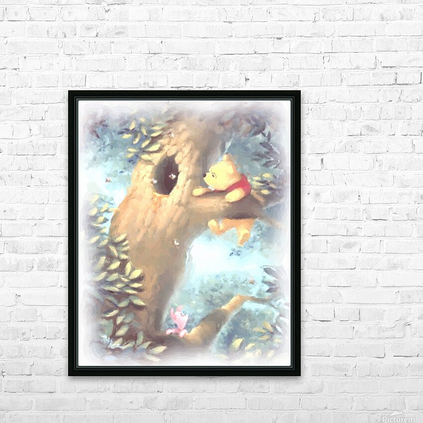 Curious Bear  HD Sublimation Metal print with Decorating Float Frame (BOX)