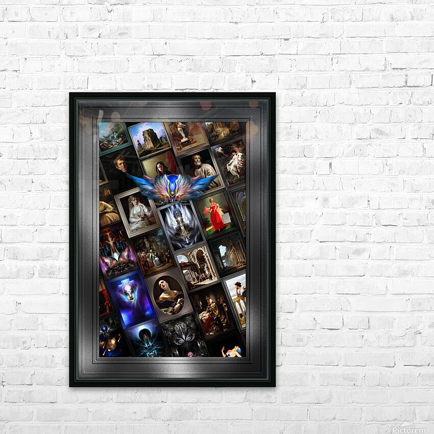 Xzendor7 Digital Classical Vintage Art Matrix Color HD Sublimation Metal print with Decorating Float Frame (BOX)
