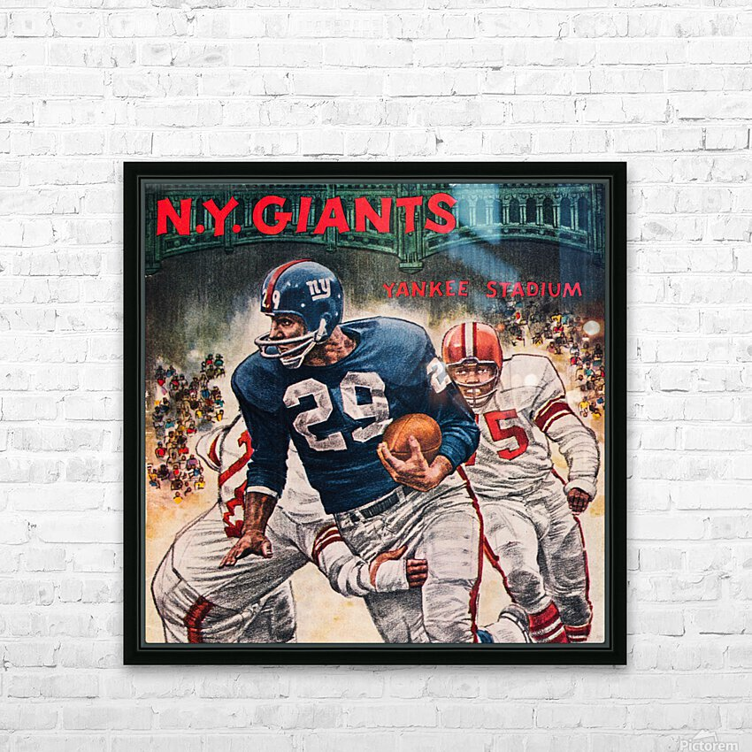 1962 Robert Riger New York Giants Art HD Sublimation Metal print with Decorating Float Frame (BOX)