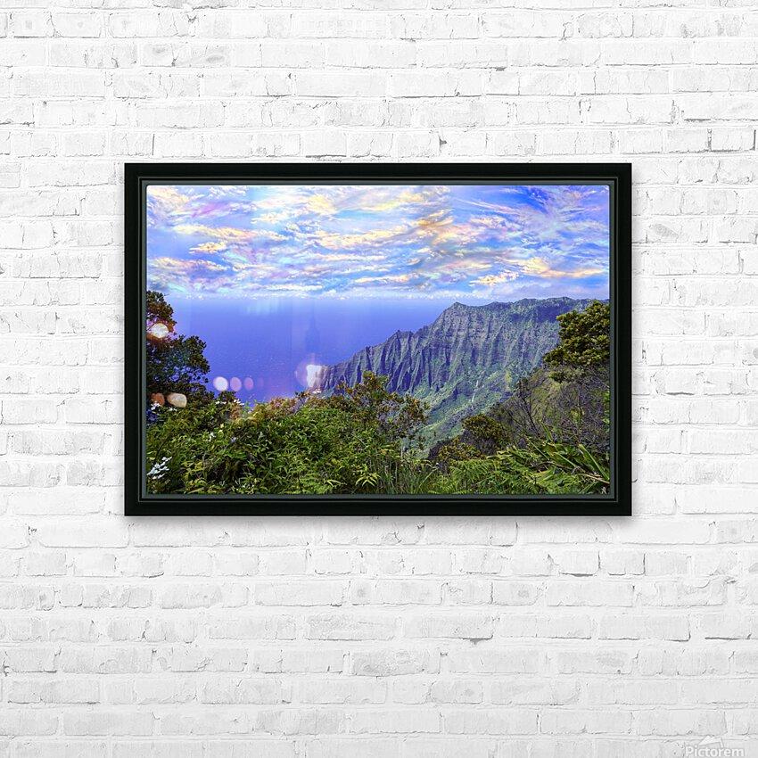 Sunset at Puu O Kila Lookout Kohala Mountains on the Island of Kauai in Hawaii HD Sublimation Metal print with Decorating Float Frame (BOX)