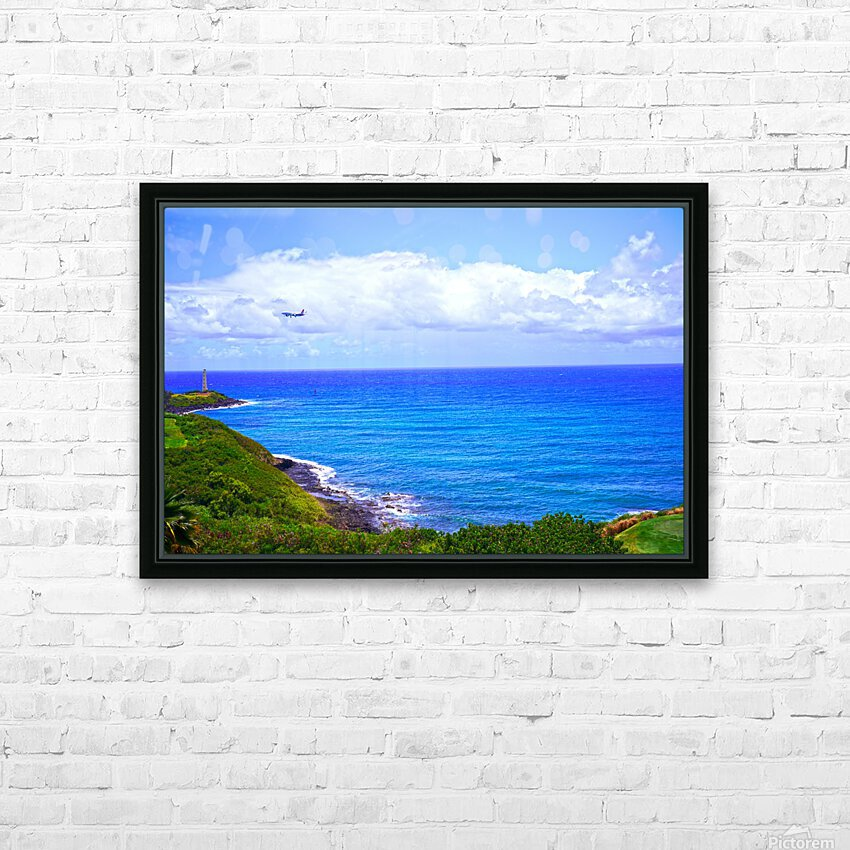 Hawaiian Airlines Flight Landing at Lihue Airport on the Island of Kauai HD Sublimation Metal print with Decorating Float Frame (BOX)