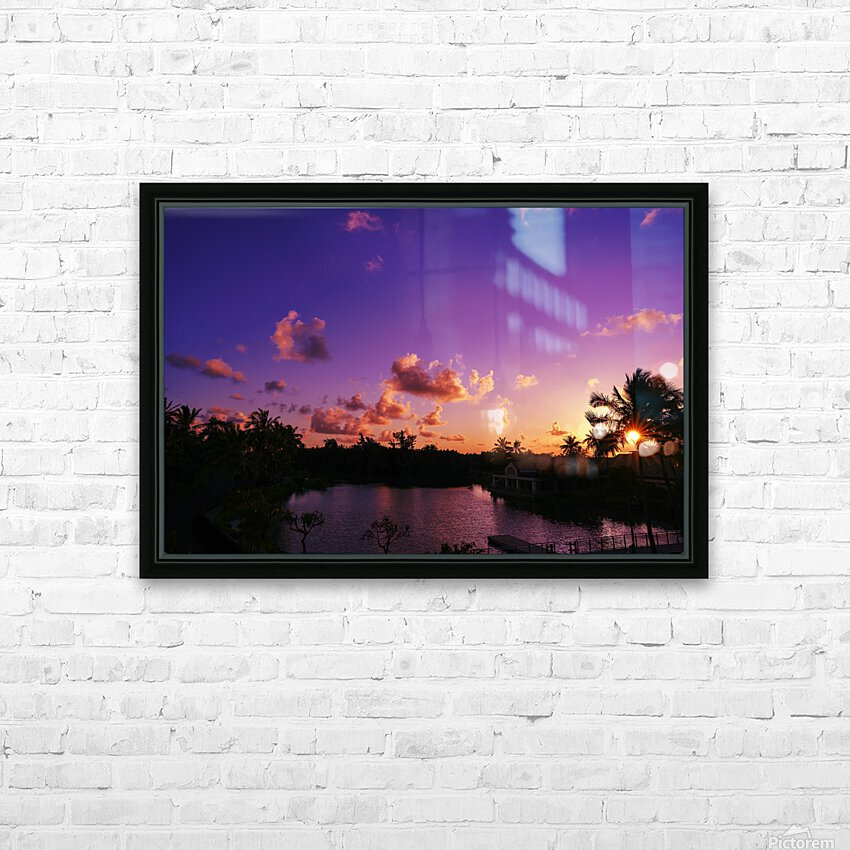 Sunrise over the Lagoon in Kauai HD Sublimation Metal print with Decorating Float Frame (BOX)