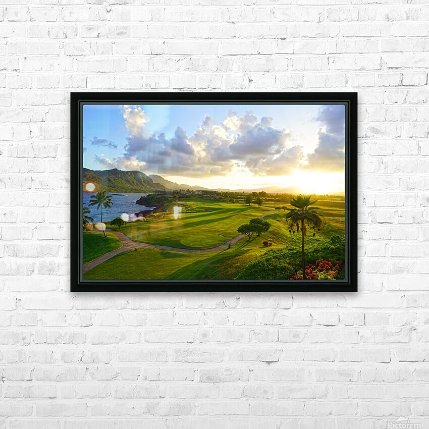 Sunset over Kukii Point on the Island of Kauai in Hawaii HD Sublimation Metal print with Decorating Float Frame (BOX)