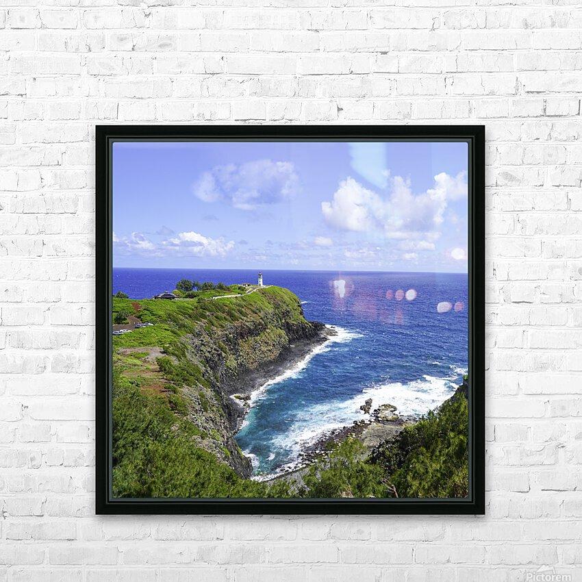 Kilauea Lighthouse on the Island of Kauai Square HD Sublimation Metal print with Decorating Float Frame (BOX)