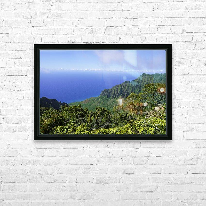 Blue Skies Puu O Kila Lookout Kohala Mountains on the Island of Kauai in Hawaii HD Sublimation Metal print with Decorating Float Frame (BOX)