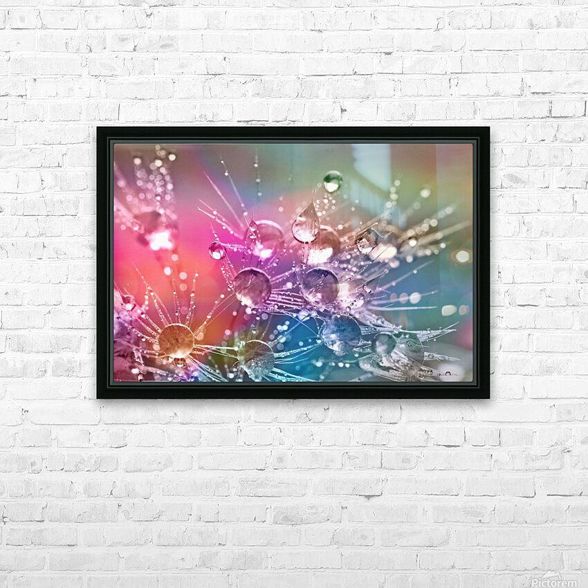 drop of water HD Sublimation Metal print with Decorating Float Frame (BOX)