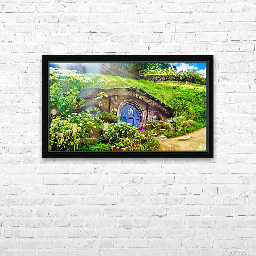 Hobbit Hole HD Sublimation Metal print with Decorating Float Frame (BOX)