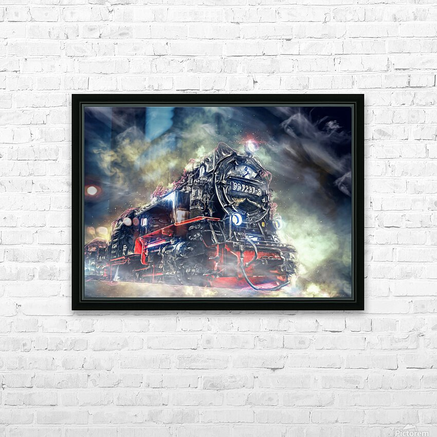 Ghost Train HD Sublimation Metal print with Decorating Float Frame (BOX)