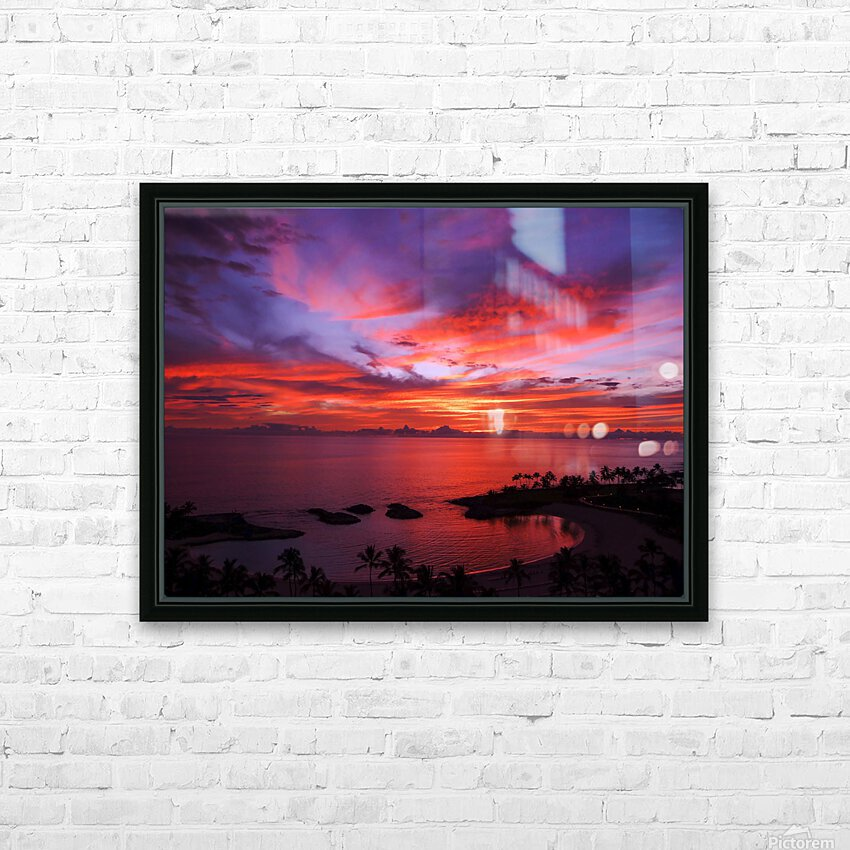 Euphoria Before Bliss - 2013 ARTWORK OF THE YEAR WINNER - Pink and Orange Kissed Skies over Hawaii at Sunset HD Sublimation Metal print with Decorating Float Frame (BOX)