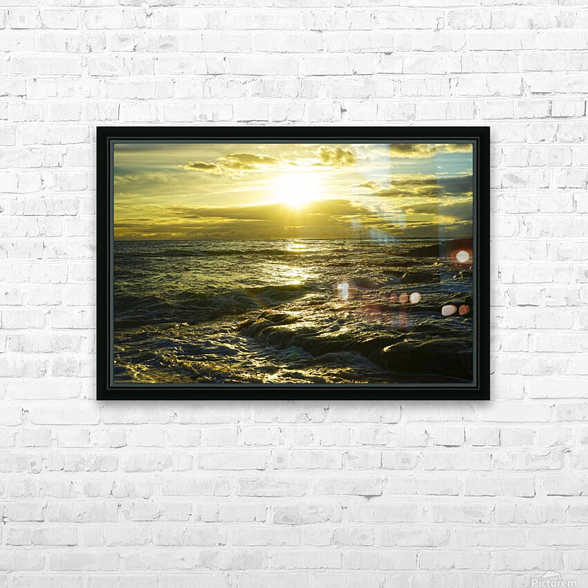 Sunlight and Shadows Play in the Waters at the Bay HD Sublimation Metal print with Decorating Float Frame (BOX)
