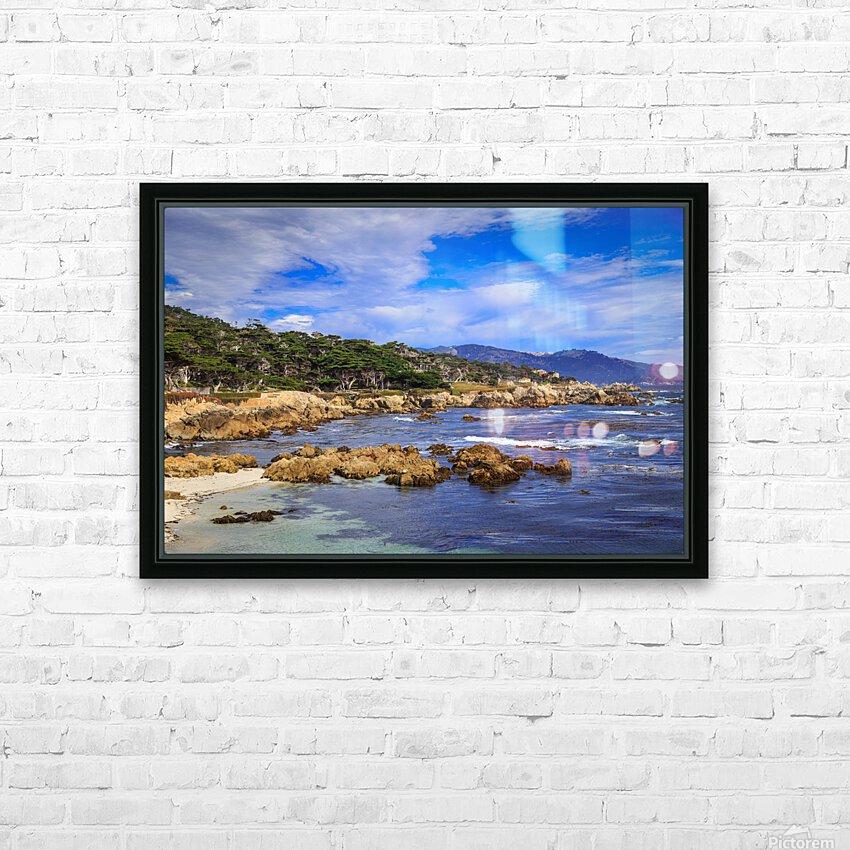 Carmel Coastline HD Sublimation Metal print with Decorating Float Frame (BOX)