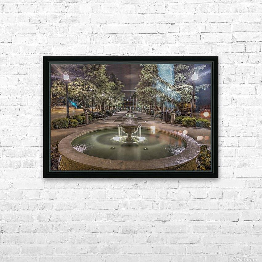 Veterans Plaza Santa Clarita CA HD Sublimation Metal print with Decorating Float Frame (BOX)
