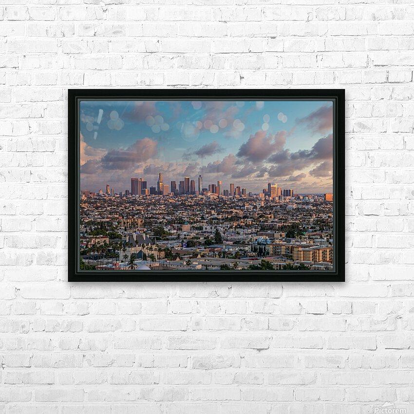 LA Twilight HD Sublimation Metal print with Decorating Float Frame (BOX)
