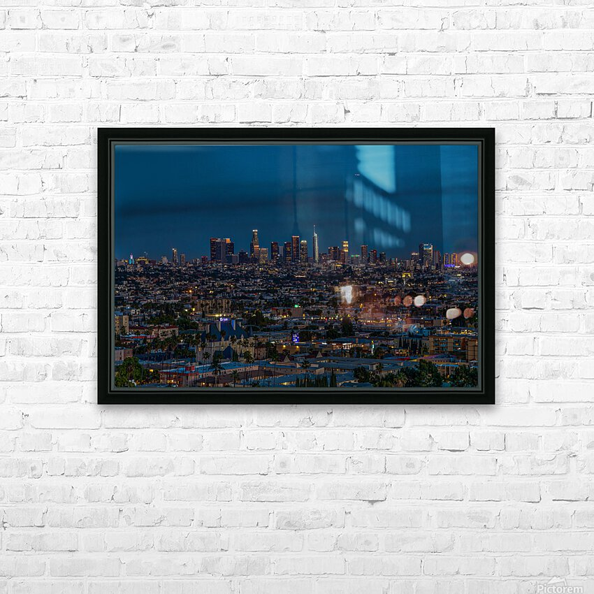 Los Angeles At Night HD Sublimation Metal print with Decorating Float Frame (BOX)