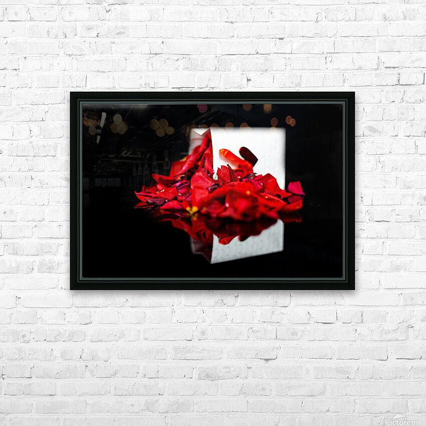 Rose Petals HD Sublimation Metal print with Decorating Float Frame (BOX)