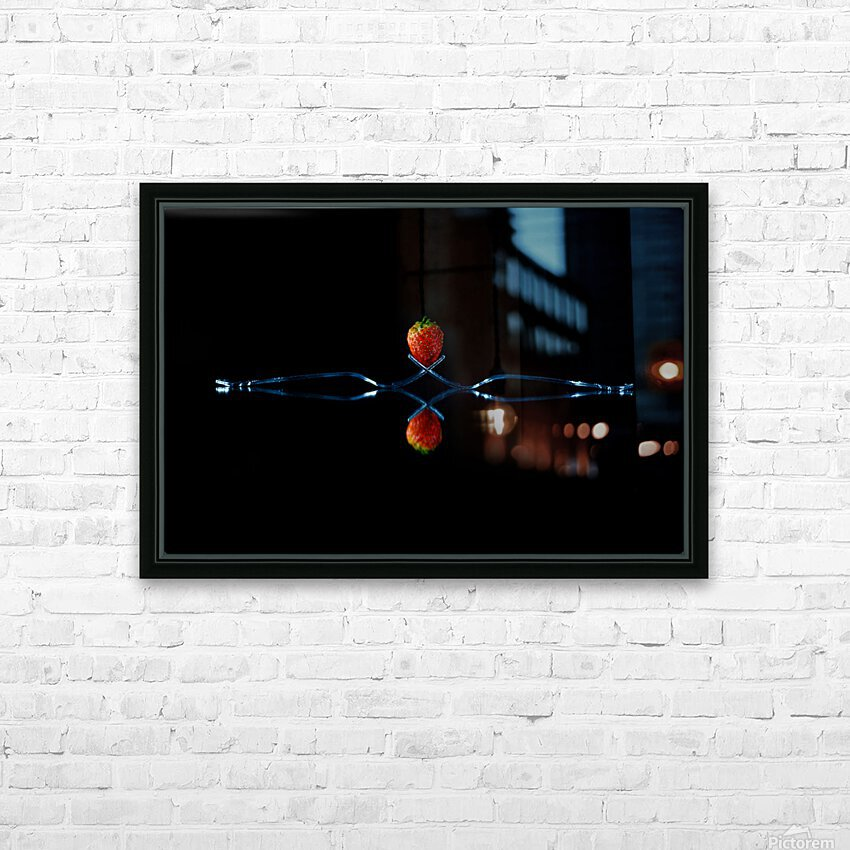 Strawberry Still Life HD Sublimation Metal print with Decorating Float Frame (BOX)