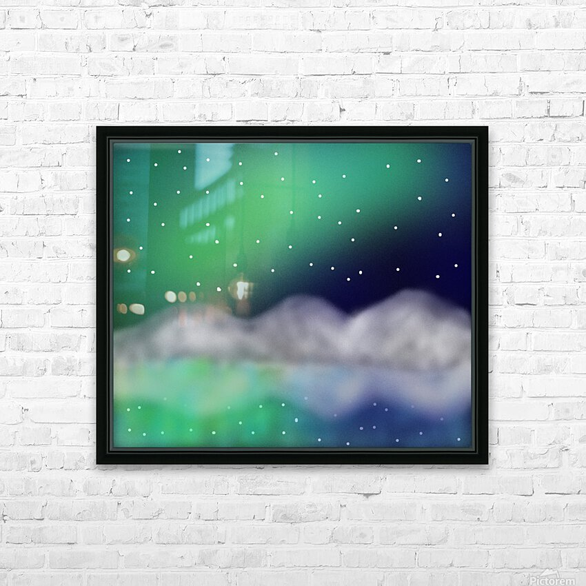 Northern Light 1 HD Sublimation Metal print with Decorating Float Frame (BOX)