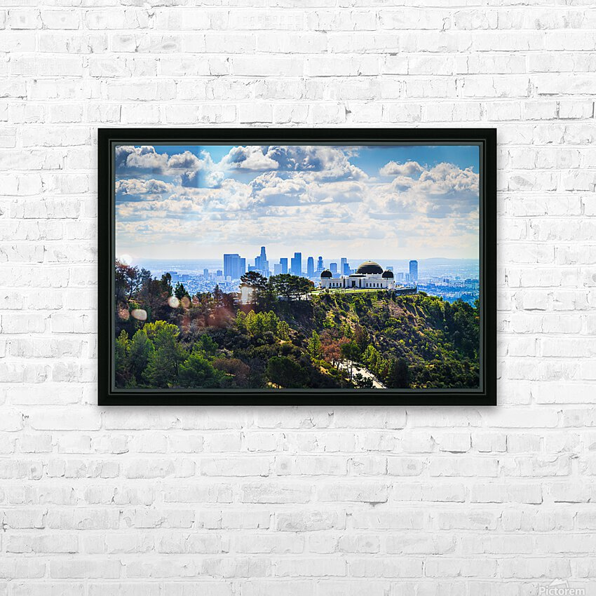 Overlooking Griffith Observatory HD Sublimation Metal print with Decorating Float Frame (BOX)