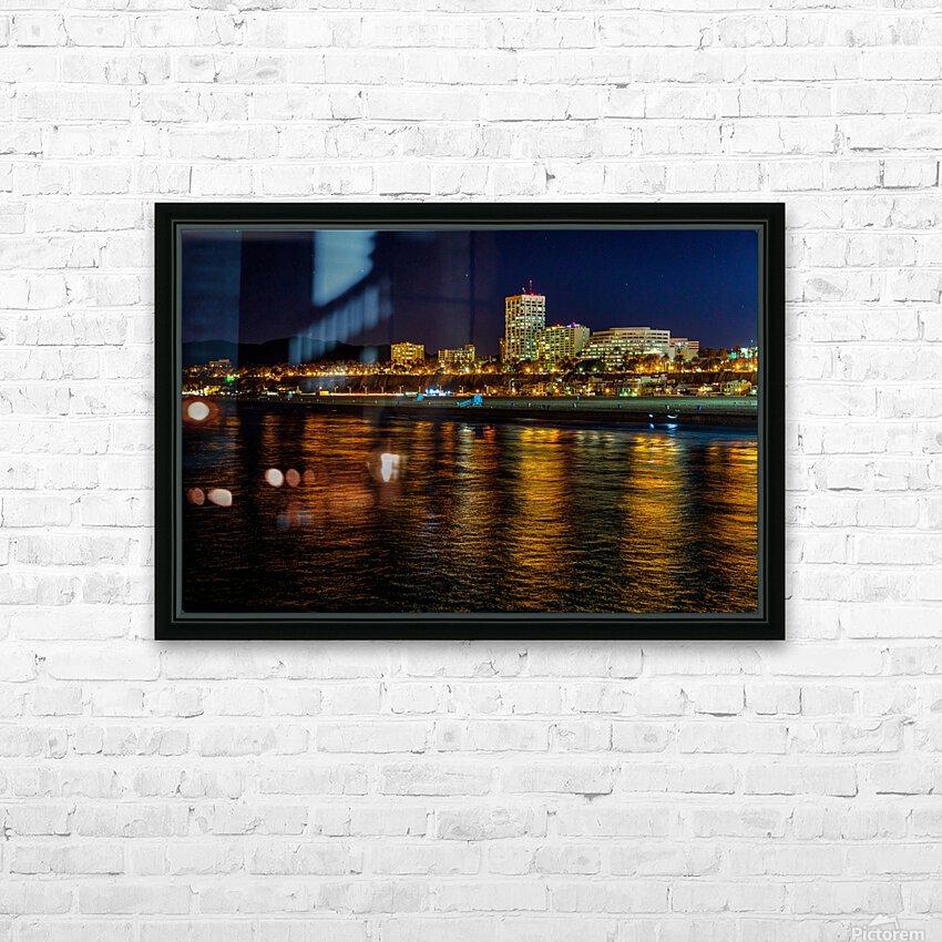 Santa Monica Skyline HD Sublimation Metal print with Decorating Float Frame (BOX)