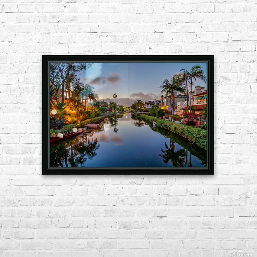 Venice Canal At Twilight HD Sublimation Metal print with Decorating Float Frame (BOX)