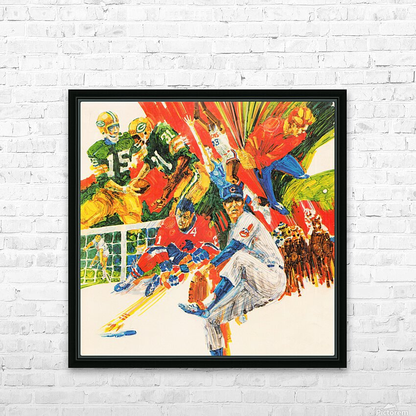1971 Retro Sports Art HD Sublimation Metal print with Decorating Float Frame (BOX)