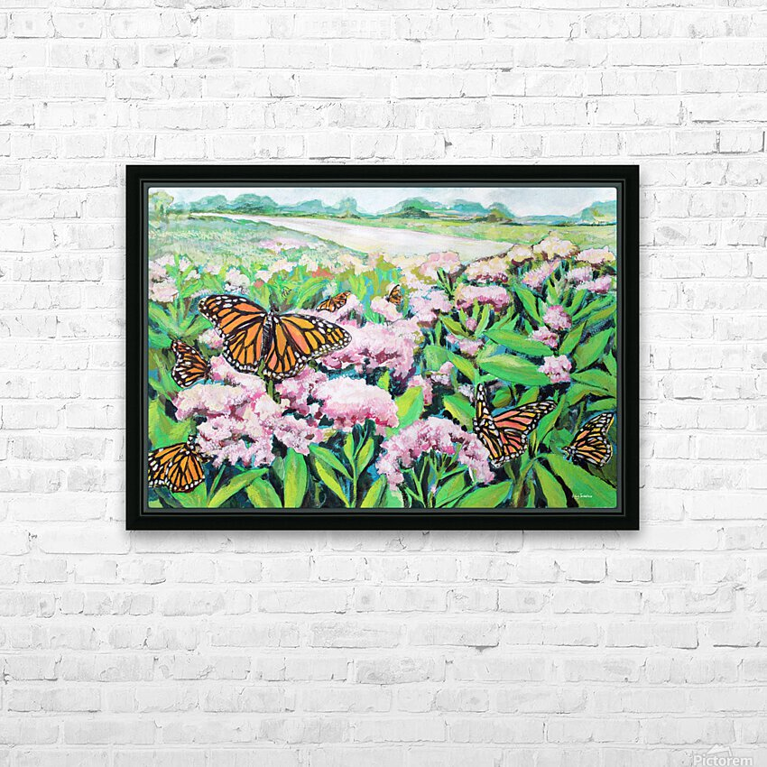CountyMonrachButterflies HD Sublimation Metal print with Decorating Float Frame (BOX)